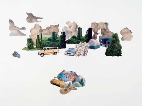 Harrison Haynes, Disruptive Patterns #39, 2008, Photo-collage on paper, 22 x 30 inches